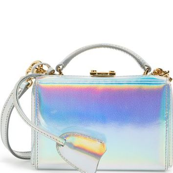 Mark Cross 'Mini Grace' Holographic Leather Box Clutch | Nordstrom