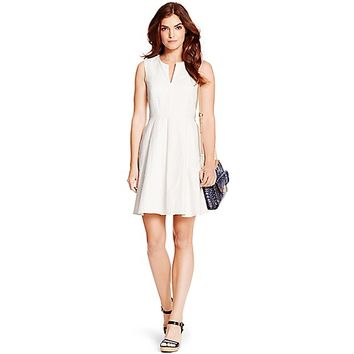 Textured Cotton Fit & Flare Dress | Tommy Hilfiger USA