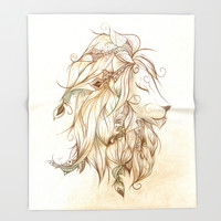 Poetic Lion Throw Blanket by LouJah | Society6
