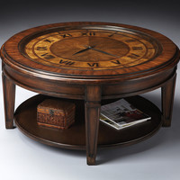 CLOCK COCKTAIL TABLE