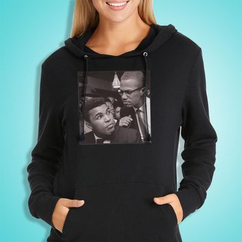Muhammad Ali And Malcolm A Favorite Of Lebron James Women'S Hoodie