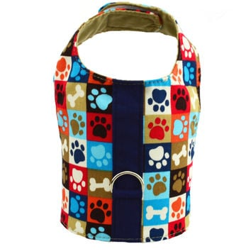 Dog Print Vest Harness