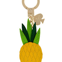 Kate Spade Leather Pineapple Keychain Yellow Multi ONE