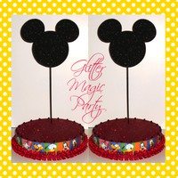 Mickey Mouse Stands - Lollipops or Cakepops Stands - Mickey Mouse Inspired Party - Mickey Mouse Party - Mickey Mouse Clubhouse - SET OF 2