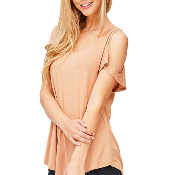 Cradle Cold Shoulder Top