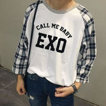 KPOP BTS Bangtan Boys Army  Exo Hoodies Women Autumn Winter Harajuku Casual Long Shirt Sleeve Hoodies Pullover Tops  K-pop Clothes Hoodie  AT_89_10