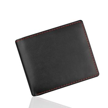 portefeuille femme 2018 Men Bifold Business Leather Wallet  ID Credit Card Holder Purse Pockets wallet men carteira masculina #8