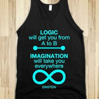 LOGIC IMAGINATION INFINITY DARK TANK TOP (CYAN ART)