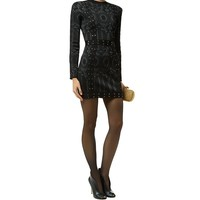 Balmain Lace-Up Bodycon Dress Black | Harrods.com