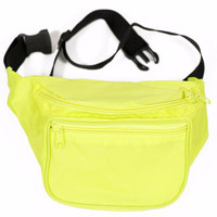 Blank Fanny Pack- Neon Yellow