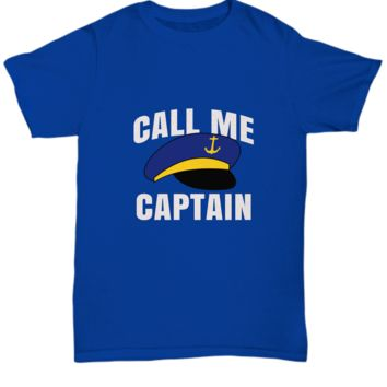Call Me Captain Boat Cruise Ship Hat T-Shirt