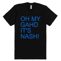 Oh My Gahd It's Nash!-Unisex Black T-Shirt