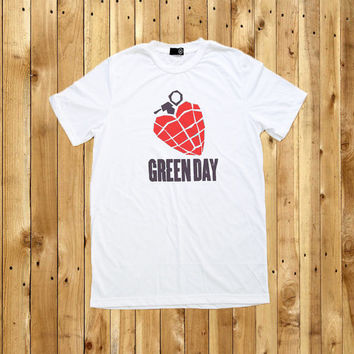 Green Day Band T-Shirt Grenade Screen Print T Shirt Men Women Tshirts Size S M L