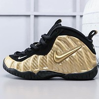 Nike Air Foamposite Pro Children's Sports Spray Basketball Shoes