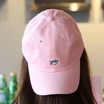 Retro Embroidery Fish Baseball hat