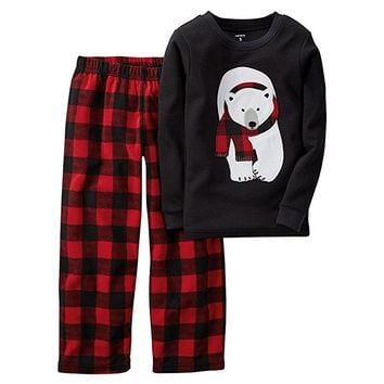 Baby Boys' Thermal & Microfleece Pajama Set