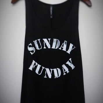 Sunday Funday Tank Top - Black