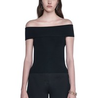 FITTED OFF THE SHOULDER TOP | TOP | Alexander Wang Official Site