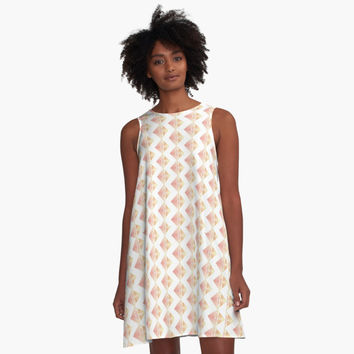'Geometric Rosy Pattern' A-Line Dress by epoliveira