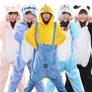 Pink Unicorn Animal Cosplay Costume Onesuit Hoodie Adult Women Men Halloween Pikachu Spiderman Minions Stitch unicornio Dress