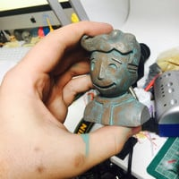 "Fallout Vaultboy 3"" resin bust"