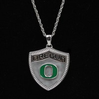 Oregon Ducks Ladies Sterling Silver Necklace