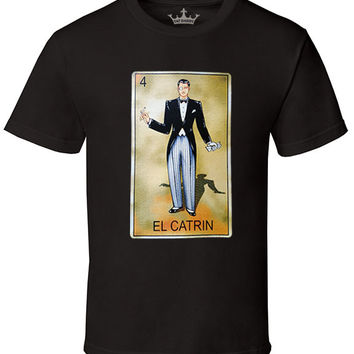 "Men's Soft Ringspun Cotton ""El Catrin"" Tee"