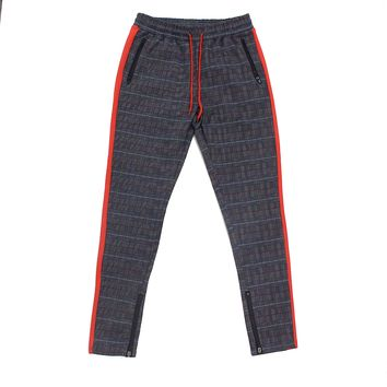 Karter Plaid Track Pants (Red)