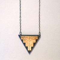 V Step Triangle Necklace by Rachel Loves Bob