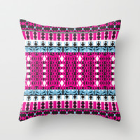 Mix #443 Throw Pillow by Ornaart