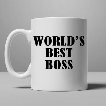 World's Best Boss Mug, Tea Mug, Coffee Mug