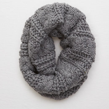 Aerie Cable Knit Snood , Dark Heather