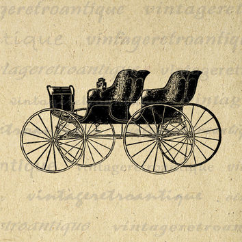 Antique Wagon Digital Graphic Printable Image Download Vintage Clip Art for Transfers Making Prints etc HQ 300dpi No.1458
