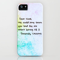 Sincerely, The Unicorns iPhone Case by Caleb Troy | Society6
