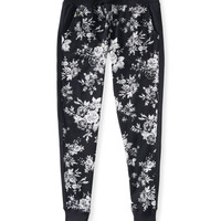 Aeropostale  Womens Floral Jogger Sweat Pants - Black, X-Small