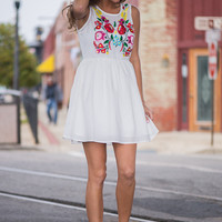 The Isabela Dress, White