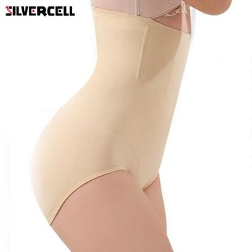 SILVERCELL Women Seamless High Waist Corset Slimming Tummy Control Knickers Breathable Pants Shapewear Body Shaper Lady Corset