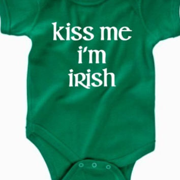 Kiss me I'm Irish baby bodysuit