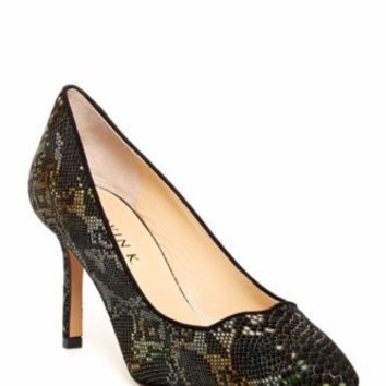 NWOB $398 MARVIN K ITALY CARRIE BLACK PYTHON SUEDE PUMPS HEELS SHOES 6.5