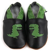 Soft Sole Baby Shoe by AUGUSTA BABY - T-Rex - US Toddler 5