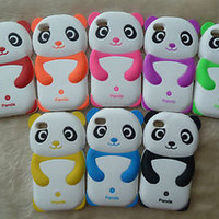 Cute Panda Soft Silicone Phone Case Cover for iPhone 4 4g 4s