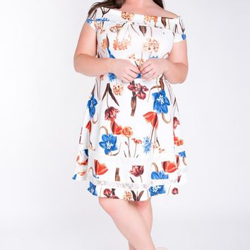 Rayna Floral Fit & Flare Dress