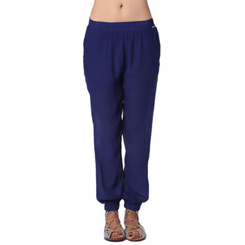 Preppyco Navy Blue Flowy Pants
