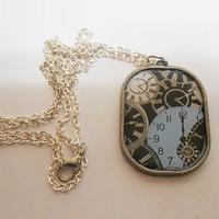 Once Upon A Time Cinderella Clock Fairytale Pendant Necklace