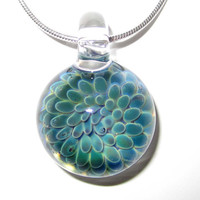 Lampworked Glass Wee Sea Flower Necklace