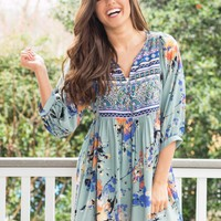Worth Living Dress in sage | Monday Dress Boutique
