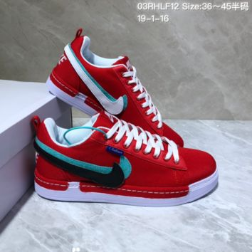 KUYOU N969 Nike Lunar Force 1 Duck Boot Low Magic stick change hook recreational board shoe Red