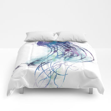 Jellyfish Comforters by monnprint