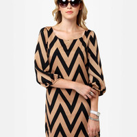 Cute Shift Dress - Chevron Dress