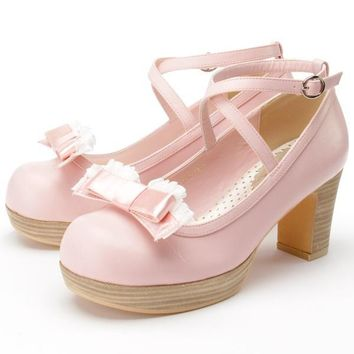 High-Q Female Japan Anime Lolita Girls Student Uniform Shoes Preppy Casual School Lady Women Maid daily princess Shoes